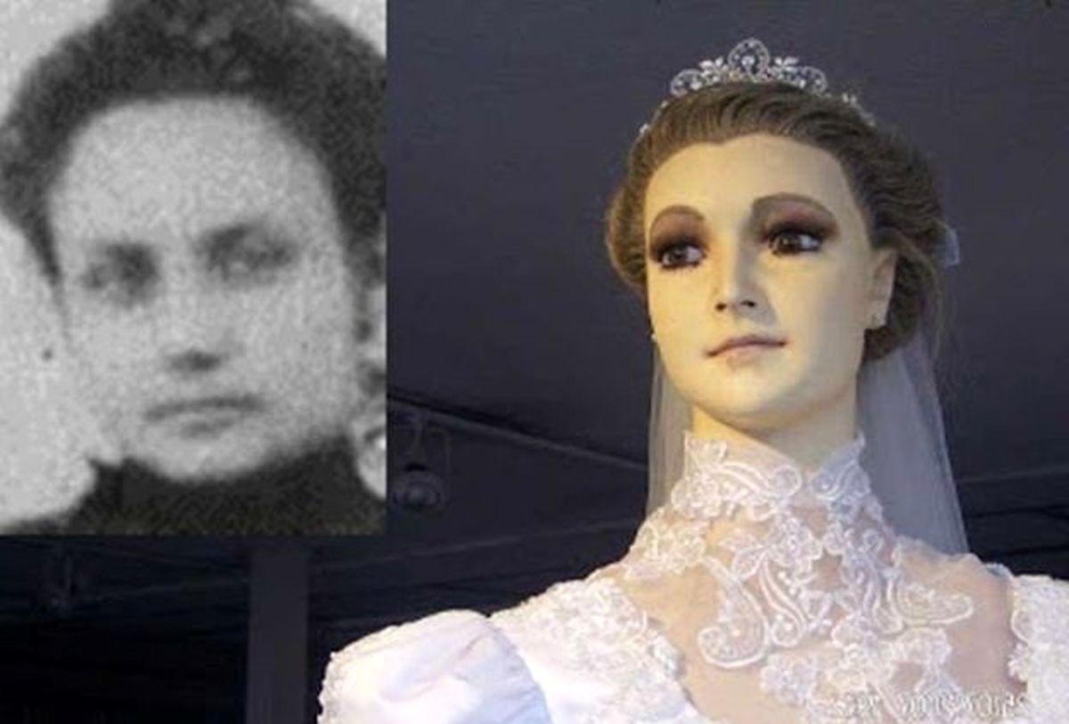 جسد این زن جوان تبدیل به مانکن عروس شد! + عکس