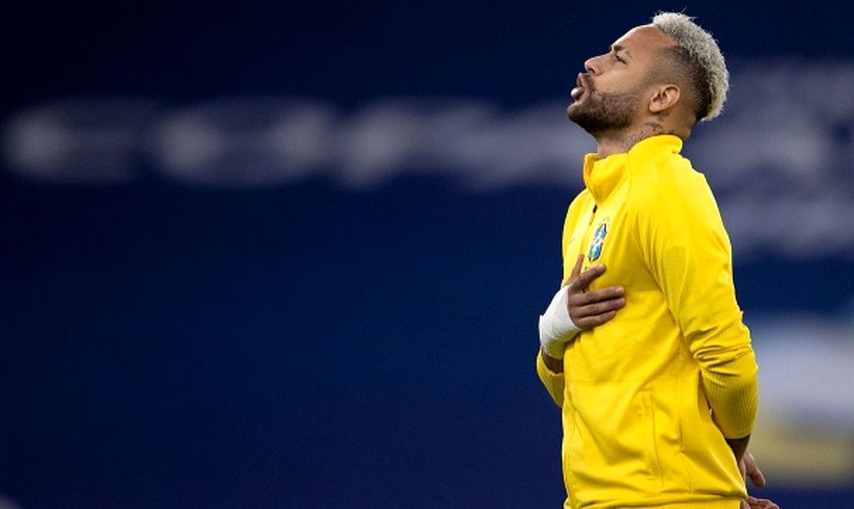 عکس از مدل موی عجیب نیمار بازیکن برزیل کنار پرنل بیمارستان جنجالی شد