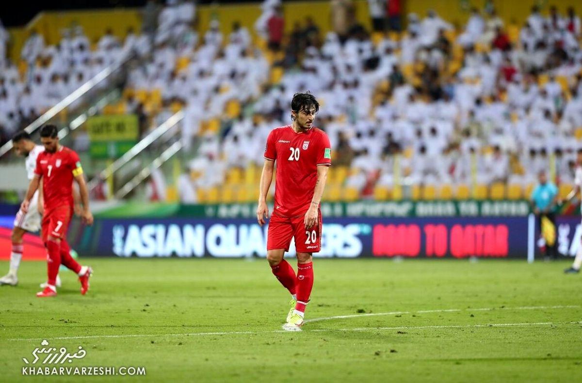 عکس ستاره غمگین تیم ملی    نارحت ترنی بازیکن رختکن