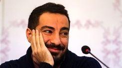 نوید محمدزاده و فرشته حسینی در پشت صحنه سریال قورباغه