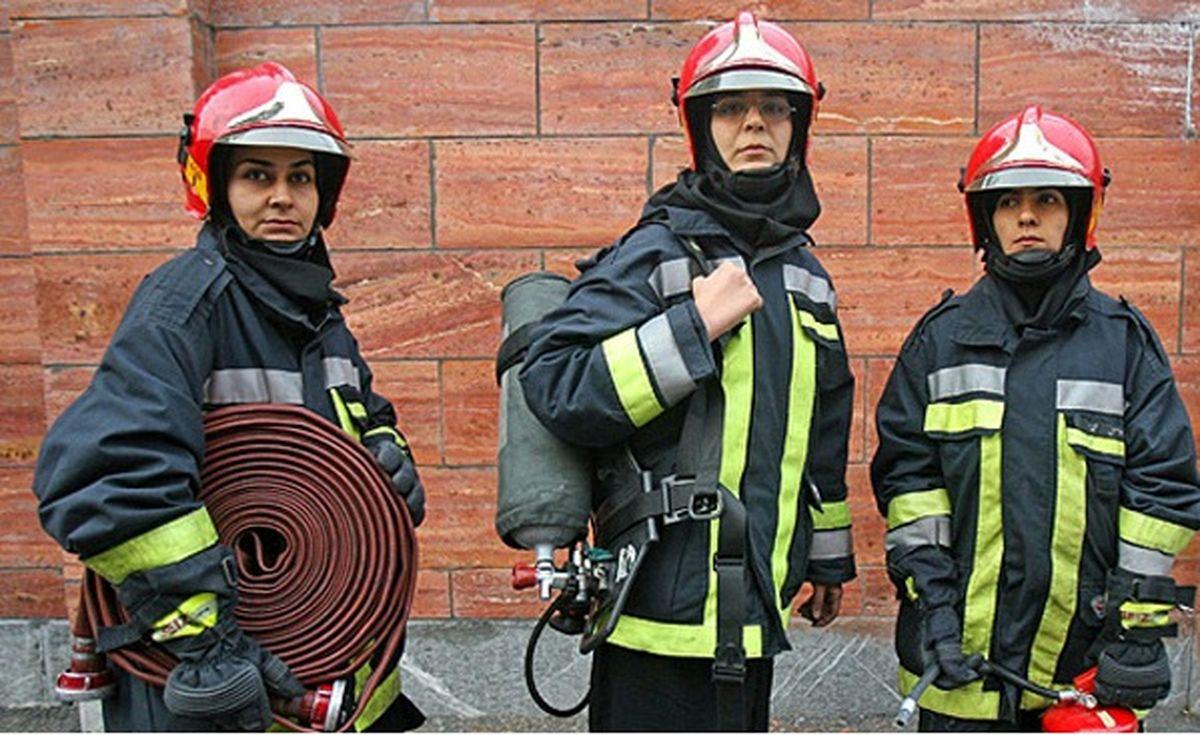 آغاز آزمون آتش نشانی برای ورود زنان / 131 زن در رقابت