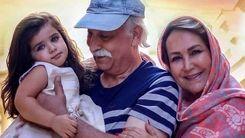 تولد لاکچری مهوش صبر کن در کنار همسرش محمود پاک نیت و نوه اش هانا