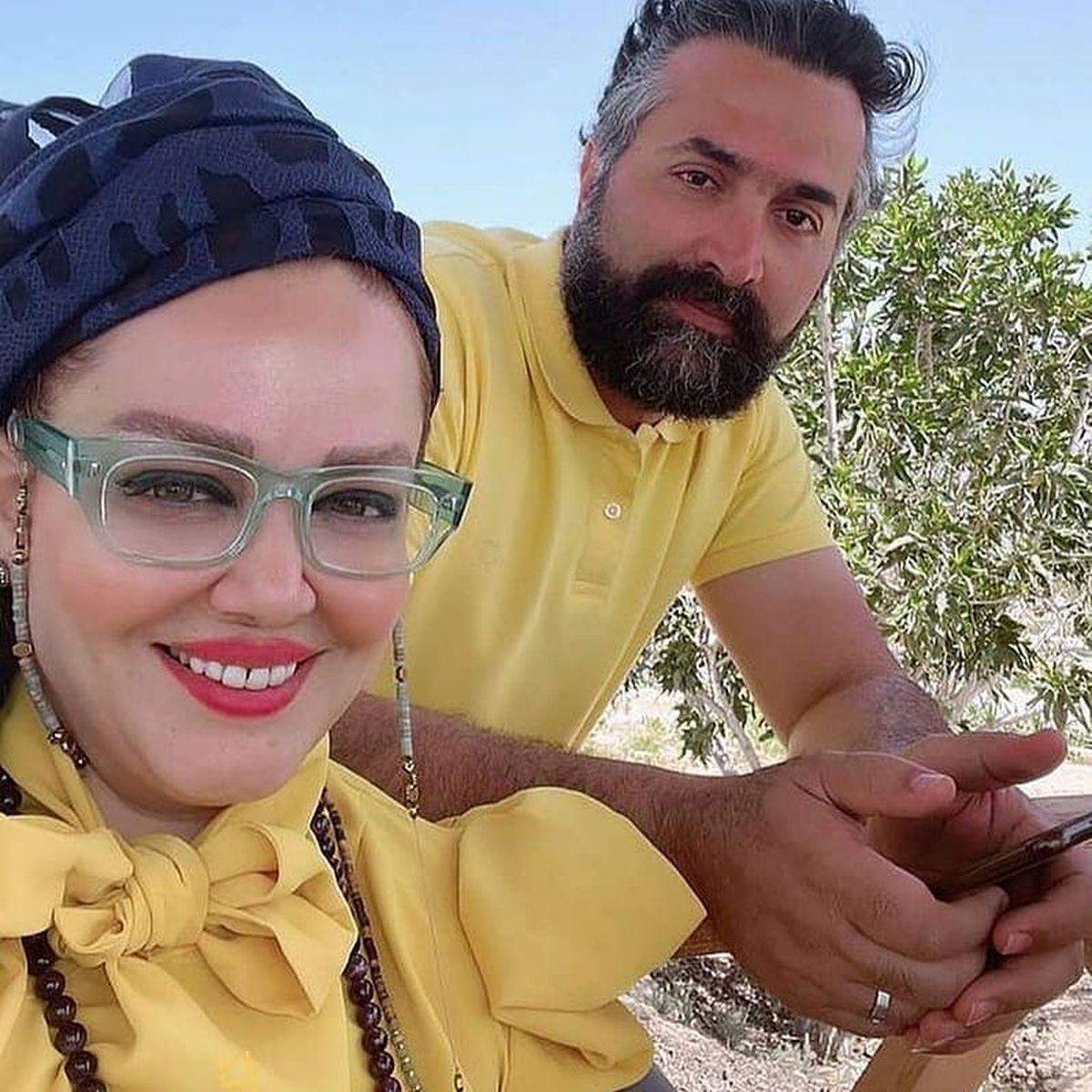 عکس دسته جمعی  بهاره رهنما با مهران غفوریان و همسرش