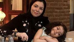 همسر مهناز افشار در مراسم چهلم آزاده نامداری + عکس دیده نشده
