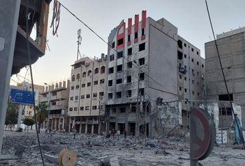 عکس بسیار دلخراش از کودکان کشته شده در نوار غزه