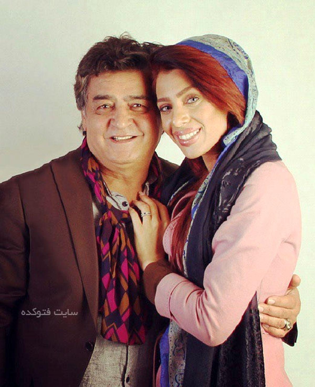 عکس لو رفته رضا رویگری با همسر دومش