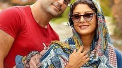 عاشقانه های حدیثه تهرانی و همسرش در خیابان + عکس